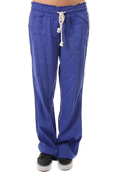 Штаны широкие женские Roxy Oceanside Pant Royal Blue штаны широкие женские insight last avenue pant poppy