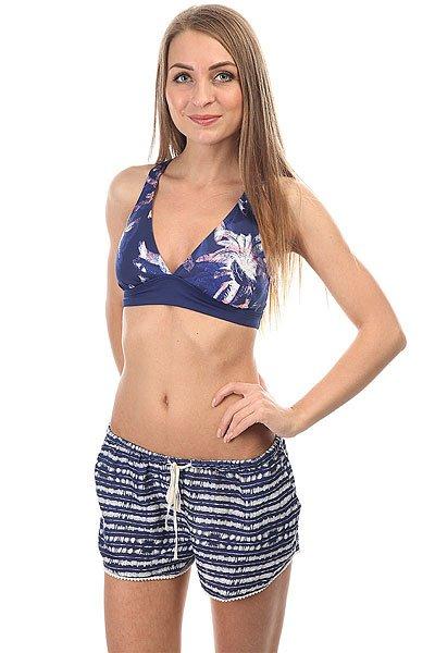 Бюстгальтер женский Roxy Kir Sporty 70/H Blue Depths Washed<br><br>Цвет: синий<br>Тип: Бюстгальтер<br>Возраст: Взрослый<br>Пол: Женский