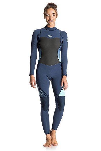 Гидрокостюм (Комбинезон) женский Roxy 3/2syncbzflckrx Blue PrintДлинный женский гидрокостюм (фулсьют) Syncro 3/2mm на спинной молнии.Характеристики:Микропористая структура неопрена FN Lite представляет собой множество пузырьков воздуха, что обеспечивает ему малый вес и при этом позволяет эффективно удерживать тепло. Неопрен Thermal Smoothie – это ветро- и водонепроницаемый материал, который отличается исключительной эластичностью.Термоподкладка WarmFlight с инфракрасной технологией FAR InfraRed.Проклеенные швы GBS (Glued &amp; Blind Stitched) сводят к минимуму повреждение неопрена от строчки иглой и предотвращают попадание воды под гидрокостюм. Спинная молния YKK® #10. Технологии водостойкости Hydroshield. Регулируемый фиксатор воротника Hydrowrap создает надежный и герметичный водонепроницаемый барьер.Легкие, эластичные и прочные эргономичные наколенники Ecto-Flex защищают ваши колени и ваш серф.<br><br>Цвет: синий<br>Тип: Гидрокостюм (Комбинезон)<br>Возраст: Взрослый<br>Пол: Женский