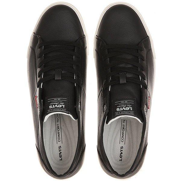 Кеды кроссовки низкие Levis Woods Regular Black от Proskater