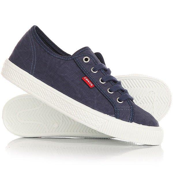 Кеды кроссовки низкие женские Levis Malibu Navy Blue