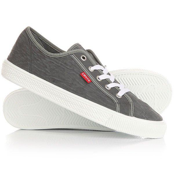 Кеды кроссовки низкие Levis Malibu Light Grey кеды кроссовки низкие levis trucker low brilliant black