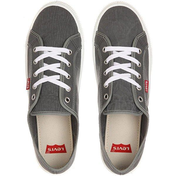 Кеды кроссовки низкие Levis Malibu Light Grey
