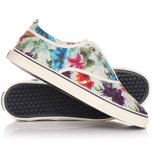 Кеды кроссовки низкие женские Wrangler Icon Board Canvas White FlowersЛегкие и удобные эти кеды не доставят неудобств при движении, в этой обуви удобно и они отлично смотрятся на ноге. Модель выполнена из натурального материала канвас и дополнена хлопковой стелькой, поэтому Вам будет комфортно, а нога не будет задыхаться.Характеристики:Верх из многослойного текстиля. Мягкая внутренняя съемная стелька из пенорезины EVA с дополнительным подпяточником. Тонкий воротник и язычок. Внутренняя отделка из текстиля. Декоративная кожаная отделка воротника.Круглая  шнуровка с тонированными металлическими люверсами.Цельнокроеный носок.Гибкая вулканизированная резиновая подошва.<br><br>Цвет: мультиколор<br>Тип: Кеды низкие<br>Возраст: Взрослый<br>Пол: Женский