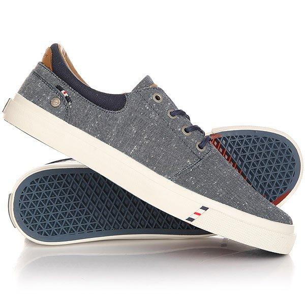 Кеды кроссовки низкие Wrangler Icon City CVS Blue ChambrayЛегкие и удобные эти кеды не доставят неудобств при движении, в этой обуви удобно и они отлично смотрятся на ноге. Модель выполнена из натурального материала канвас и дополнена хлопковой стелькой, поэтому Вам будет комфортно, а нога не будет задыхаться.Характеристики:Верх из многослойного текстиля. Мягкая внутренняя съемная стелька из пенорезины EVA с дополнительным подпяточником. Тонкий воротник и язычок. Внутренняя отделка из текстиля. Декоративная кожаная отделка воротника.Круглая  шнуровка с тонированными металлическими люверсами.Цельнокроеный носок.Гибкая вулканизированная резиновая подошва.<br><br>Цвет: синий<br>Тип: Кеды низкие<br>Возраст: Взрослый<br>Пол: Мужской