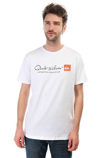 Футболка Quiksilver Originel White<br><br>Цвет: белый<br>Тип: Футболка<br>Возраст: Взрослый<br>Пол: Мужской