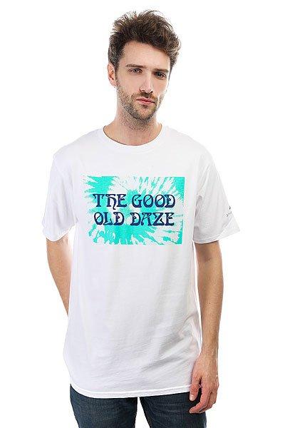 Футболка Quiksilver Good Old Daze White<br><br>Цвет: белый<br>Тип: Футболка<br>Возраст: Взрослый<br>Пол: Мужской