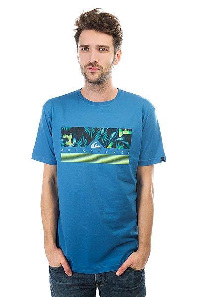 Футболка Quiksilver Jungle Box Vallarta Blue<br><br>Цвет: синий<br>Тип: Футболка<br>Возраст: Взрослый<br>Пол: Мужской