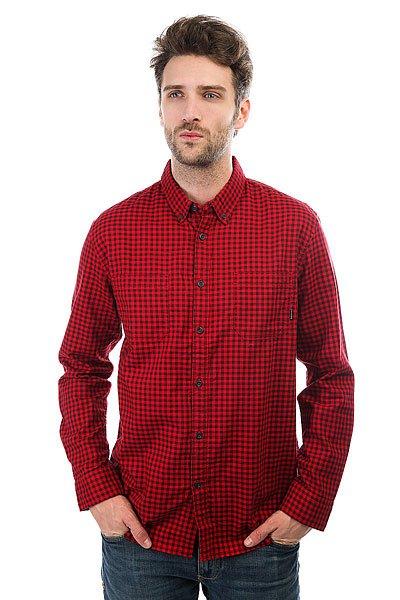 Рубашка в клетку Quiksilver Fortenightsls Port Royale Gingham<br><br>Цвет: красный<br>Тип: Рубашка в клетку<br>Возраст: Взрослый<br>Пол: Мужской