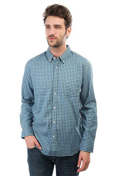 Рубашка в клетку Quiksilver Fortenightsls Indian Teal Gingham<br><br>Цвет: голубой<br>Тип: Рубашка в клетку<br>Возраст: Взрослый<br>Пол: Мужской