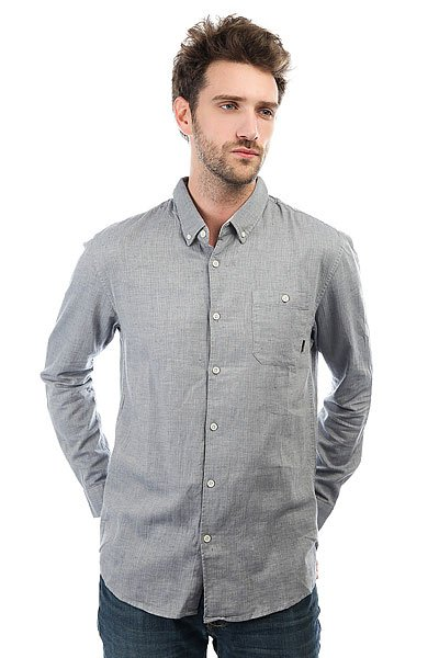 Рубашка Quiksilver Chapmanseas Dark Denim<br><br>Цвет: серый<br>Тип: Рубашка<br>Возраст: Взрослый<br>Пол: Мужской