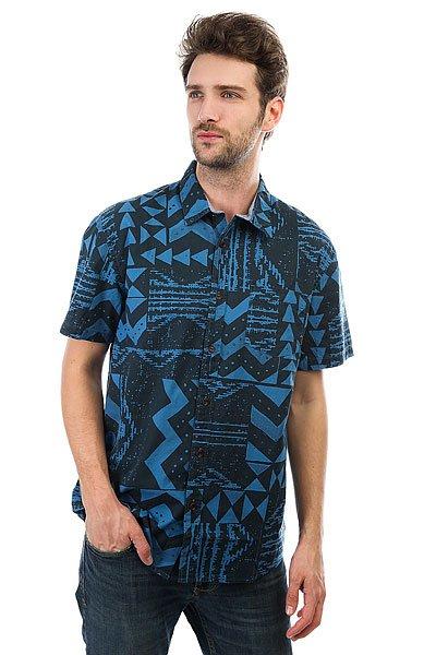 Рубашка Quiksilver Eastcapecrown Vallarta Blue<br><br>Цвет: синий,черный<br>Тип: Рубашка<br>Возраст: Взрослый<br>Пол: Мужской