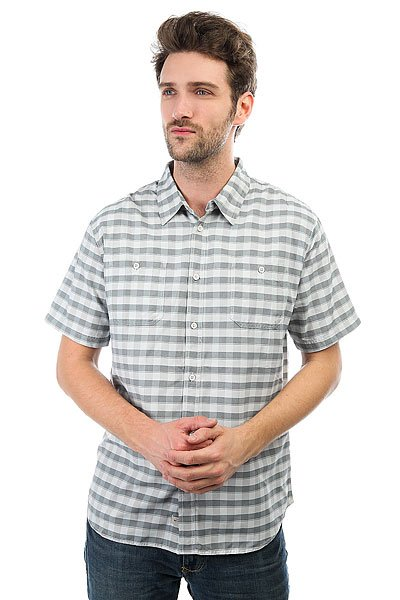 Рубашка в клетку Quiksilver Wake Glacier рубашка в клетку quiksilver helsby american beau