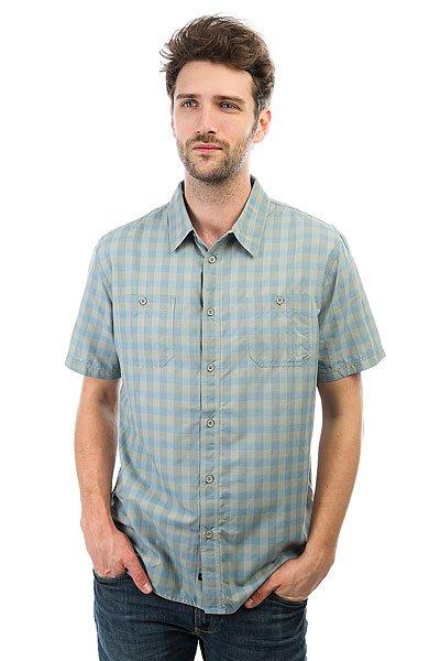 Рубашка в клетку Quiksilver Wake Shadow<br><br>Цвет: голубой,серый<br>Тип: Рубашка в клетку<br>Возраст: Взрослый<br>Пол: Мужской
