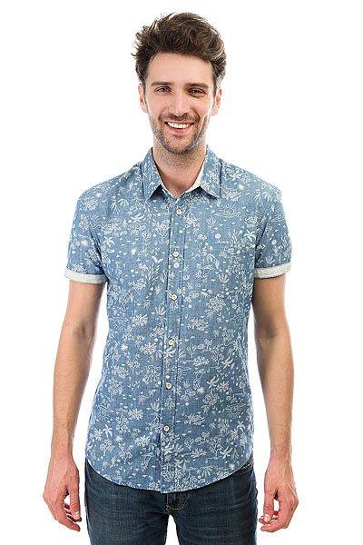 Рубашка Quiksilver Bloomfielddiver Indigo Pyramid<br><br>Цвет: синий<br>Тип: Рубашка<br>Возраст: Взрослый<br>Пол: Мужской