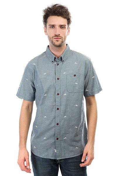 Рубашка Quiksilver Post Surf Major Blue<br><br>Цвет: синий<br>Тип: Рубашка<br>Возраст: Взрослый<br>Пол: Мужской