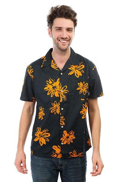 Рубашка Quiksilver Southbeachdimes Tarmac Vintage Surf<br><br>Цвет: черный,оранжевый<br>Тип: Рубашка<br>Возраст: Взрослый<br>Пол: Мужской