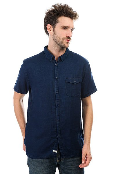 Рубашка Quiksilver Riveez Rinse<br><br>Цвет: синий<br>Тип: Рубашка<br>Возраст: Взрослый<br>Пол: Мужской
