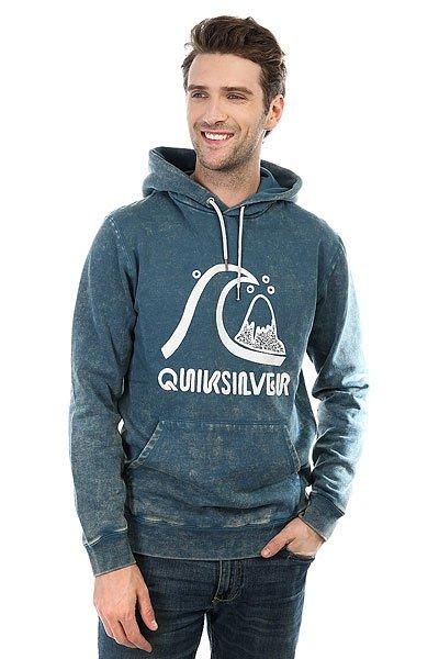 Толстовка кенгуру Quiksilver Bubble Hoody Indian Teal<br><br>Цвет: синий<br>Тип: Толстовка кенгуру<br>Возраст: Взрослый<br>Пол: Мужской