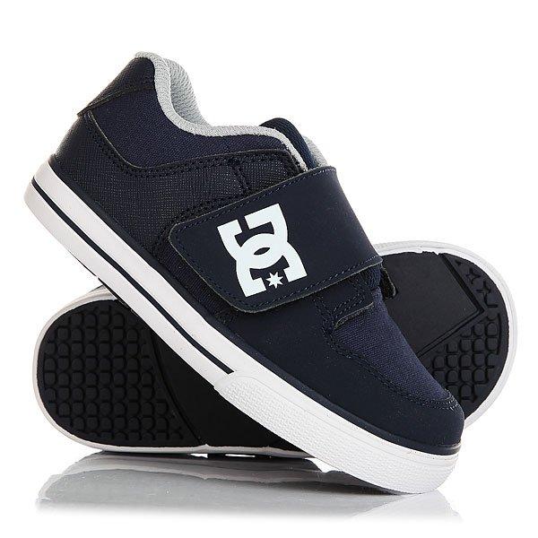 Кеды кроссовки низкие детские DC Pure V Ii Navy кеды кроссовки низкие детские dc pure v ii black multi