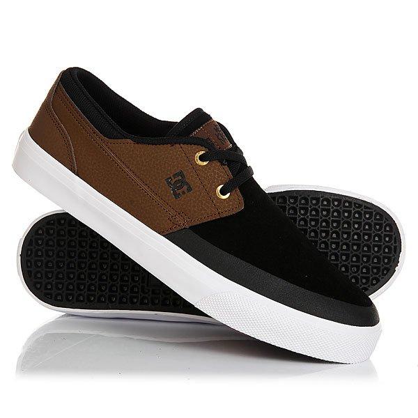 Кеды кроссовки низкие DC Wes Kremer 2 S Brown/Black кеды кроссовки низкие dc wes kremer tan brown