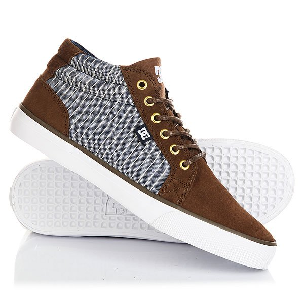 Кеды кроссовки высокие DC Council Mid Se Brown/Blue dc shoes кеды dc council se navy camel 8