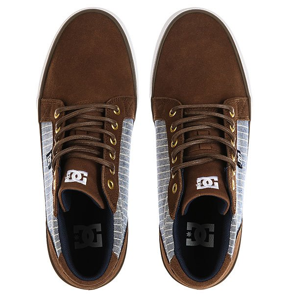 Кеды кроссовки высокие DC Council Mid Se Brown/Blue