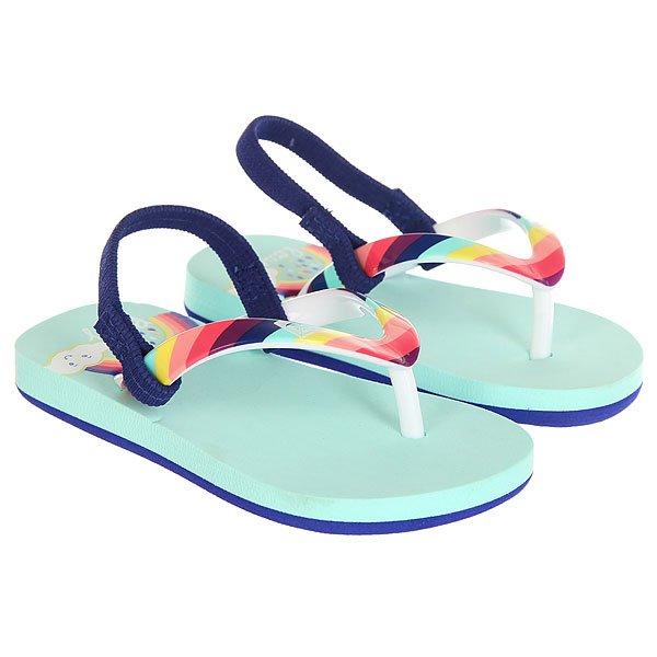 Сандалии детские Roxy Tw Pebbles Vi Rainbow<br><br>Цвет: голубой,мультиколор<br>Тип: Сандалии<br>Возраст: Детский