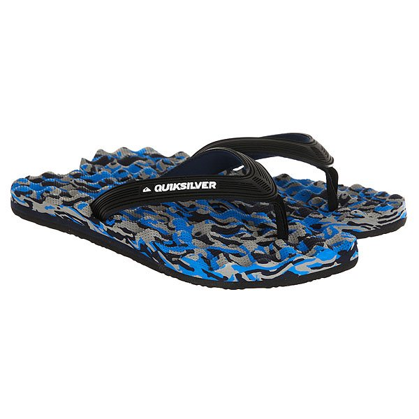Вьетнамки Quiksilver Massage Black/Blue вьетнамки quiksilver java wordmark black blue