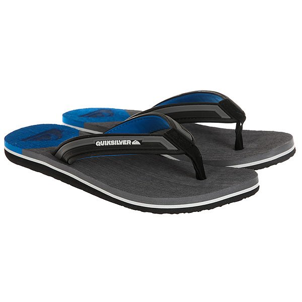 Вьетнамки Quiksilver Molokai New Wav Black/Grey/Blue вьетнамки quiksilver java wordmark black blue