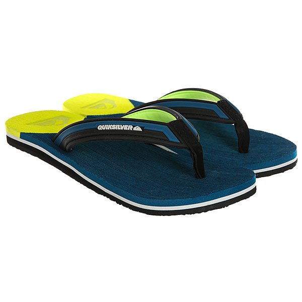Вьетнамки Quiksilver Molokai New Wav Blue/Yellow