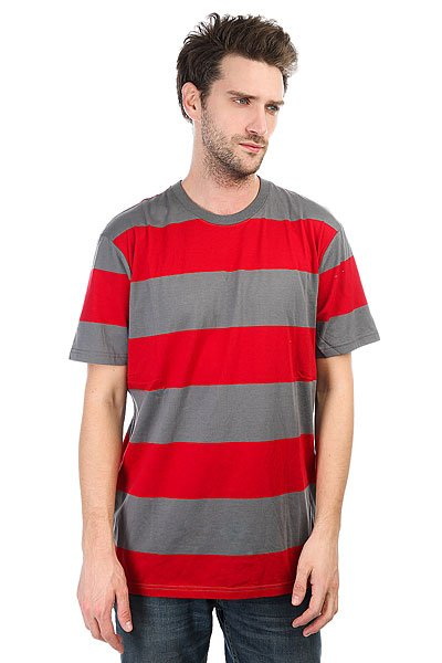 Футболка DC Madars Stripe Chili Pepper<br><br>Цвет: серый,красный<br>Тип: Футболка<br>Возраст: Взрослый<br>Пол: Мужской