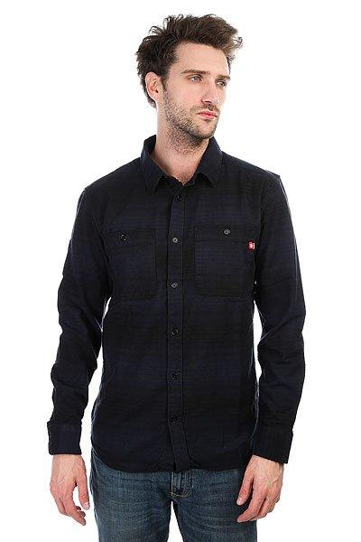 Рубашка DC Cyril Flannel Black Iris<br><br>Цвет: синий,черный<br>Тип: Рубашка<br>Возраст: Взрослый<br>Пол: Мужской