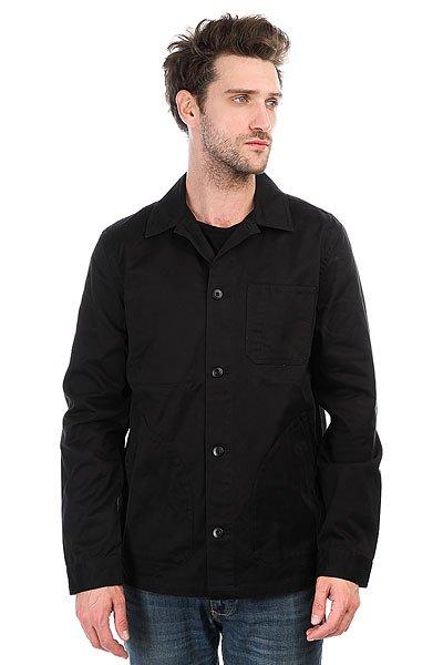 Куртка DC Darras BlackКуртка в рабочем стиле Darras.Характеристики:Хлопчатобумажный сатин. В стиле рабочей спецодежды. Без подкладки. Застегивается на кнопки с маркировкой DC. Логотип спереди. Фирменный брендинг DC.<br><br>Цвет: черный<br>Тип: Куртка<br>Возраст: Взрослый<br>Пол: Мужской
