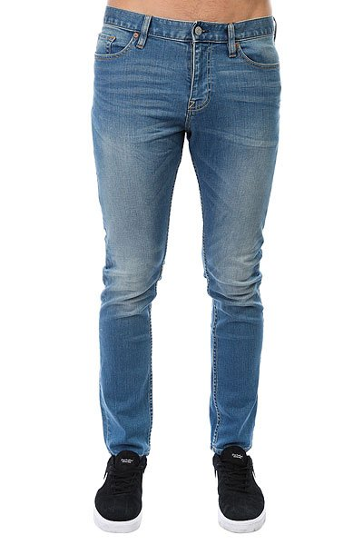 Джинсы узкие DC Washed Slim Jn Medium Indigo Bleach джинсы узкие dc washed slim jea pant light stone