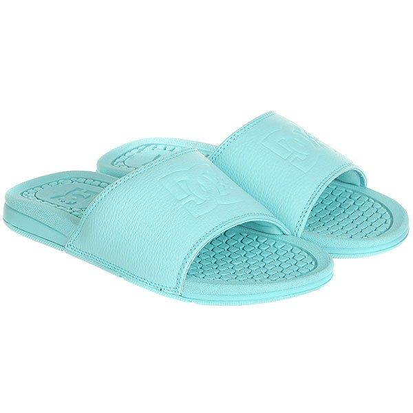 Шлепанцы женские DC Shoes Bolsa Aqua<br><br>Цвет: голубой<br>Тип: Шлепанцы<br>Возраст: Взрослый<br>Пол: Женский