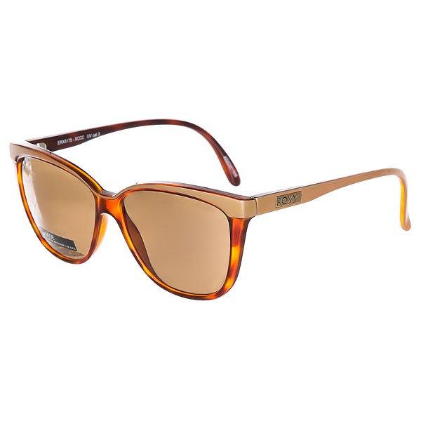 Очки женские Roxy Jade Shiny Tortoise-goldЖенские солнцезащитные очки Jade из новой коллекции Roxy.Технические характеристики: Оправа из пропионата.Ударопрочные линзы из поликарбоната.100% УФ защита от солнца.Линза 3 категории для превосходной фильтрации в очень солнечную погоду.Сделано в Италии.Защитный чехол из EVA.<br><br>Цвет: коричневый,бежевый<br>Тип: Очки<br>Возраст: Взрослый<br>Пол: Женский