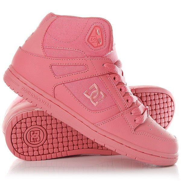 Кеды кроссовки высокие женские DC Shoes Rebound High DesertКлассические высокие женские кеды, обеспечивающие максимальный комфорт и поддержку благодаря вспененному манжету и язычку, а также конструкции ботинкаcupsole. Выигрышное сочетание кожи и премиум текстиля обеспечит не только долговечность и надежность конструкции, но и отличный внешний вид, добавляющий стиля городскому луку.Характеристики:Высокие женские кеды. Гибкая резиновая подошва. Пластиковые верхние люверсы для дополнительной шнуровки. Плоские шнурки. Нашивка с фирменным логотипом на язычке. Конструкция cupsole.Вспененный верх и язычок для дополнительнойподдержки и комфорта.Сетчатая дышащая подкладка. Фирменный цепкий протекторPill Pattern.Вышитый сбоку фирменный логотип.<br><br>Цвет: розовый<br>Тип: Кеды высокие<br>Возраст: Взрослый<br>Пол: Женский