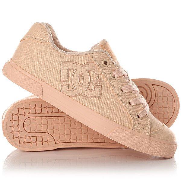 Кеды кроссовки низкие женские DC Shoes Chelsea Tx Peach Cream кеды кроссовки высокие женские dc rebound high tx navy gum