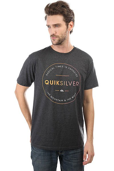 Футболка Quiksilver Freezone Charcoal Heather quiksilver футболка quiksilver snake fined charcoal heather
