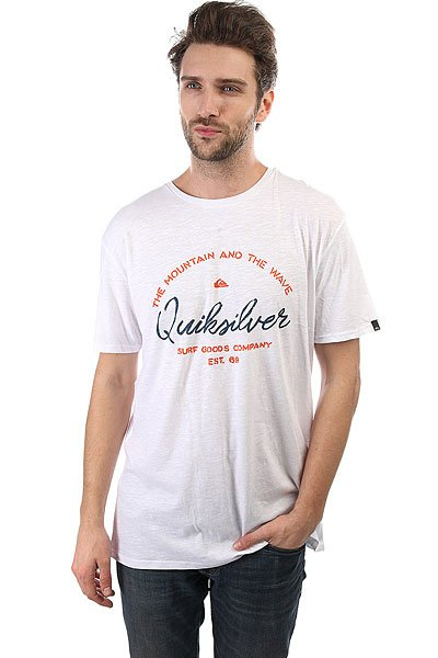 Футболка Quiksilver Herobay White<br><br>Цвет: белый<br>Тип: Футболка<br>Возраст: Взрослый<br>Пол: Мужской