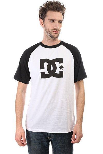 Футболка DC Star Raglan Ss Snow White/Black<br><br>Цвет: белый,черный<br>Тип: Футболка<br>Возраст: Взрослый<br>Пол: Мужской