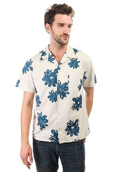 Рубашка Quiksilver Southbeachdimes Birch Vintage Surf<br><br>Цвет: бежевый,синий<br>Тип: Рубашка<br>Возраст: Взрослый<br>Пол: Мужской