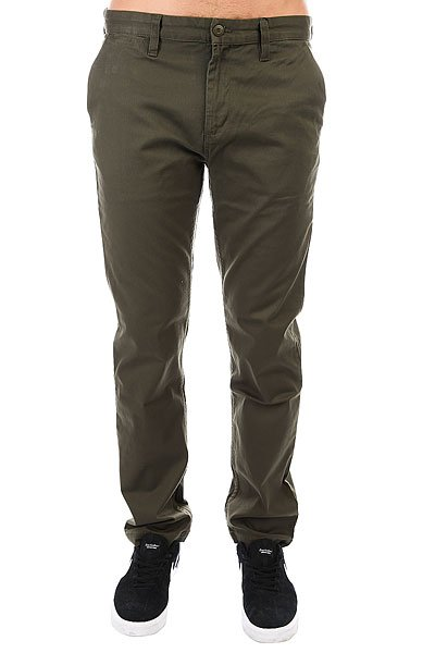 Штаны прямые DC Wrk Str Chino Fatigue Green штаны прямые billabong new order chino khaki