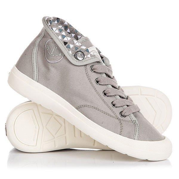 Кеды кроссовки высокие женские Palladium Aventure Elephant Skin/Marshmallow/Piramid PrintЛегкие и прочные кеды Aventure с производительной стелькой Ortholite и контрастным воротником, который позволит менять стиль обуви и образ в целом.Технические характеристики: Верх и подкладка из хлопка.Дышащая стелька Ortholite поглощающая влагу и запах.Прорезиненный носок для дополнительной прочности.Воротник на кнопках с логотипом.Формованная резиновая подошва.<br><br>Цвет: серый<br>Тип: Кеды высокие<br>Возраст: Взрослый<br>Пол: Женский