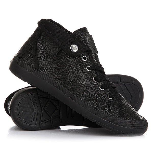 Кеды кроссовки высокие женские Palladium Aventure Black/Black/Spider Print цены онлайн