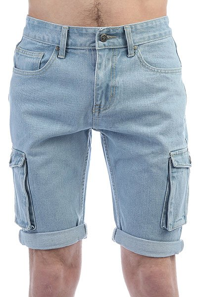 Шорты джинсовые Запорожец Pocket Denim Short Zap Regular Flex Light Blue<br><br>Цвет: ,голубой<br>Тип: Шорты джинсовые<br>Возраст: Взрослый<br>Пол: Мужской
