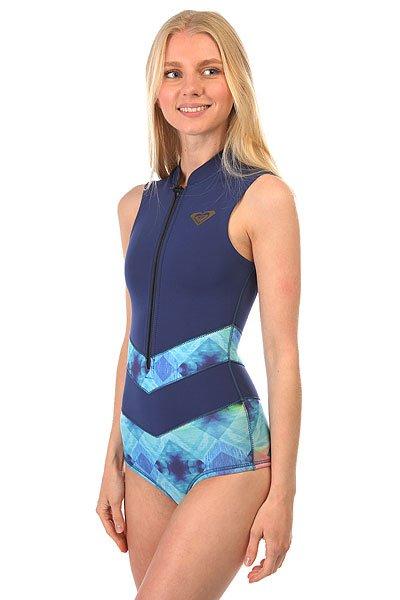 Гидрокостюм (Комбинезон) женский Roxy Pop Surf Onesie Blue DepthsПокажите немного кожи в этом коротком гидрокостюме Roxy Pop Surf.Проверенный временем стиль и современные технологии - залог успеха и красоты.Характеристики:Короткий женский гидрокостюм. Толщина неопрена 2 мм. Проклеенные швы GBS (Glued &amp; Blind Stitched) сводят к минимуму повреждение неопрена от строчки иглой и предотвращают попадание воды под гидрокостюм.Нагрудная молния YKK™.<br><br>Цвет: синий,мультиколор<br>Тип: Гидрокостюм (Комбинезон)<br>Возраст: Взрослый<br>Пол: Женский