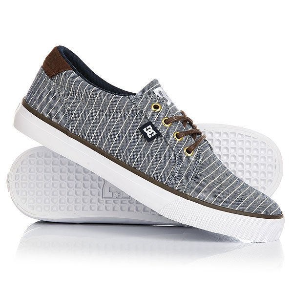 Кеды кроссовки низкие DC Council Tx Le Brown/Blue dc shoes кеды dc council se navy camel 8