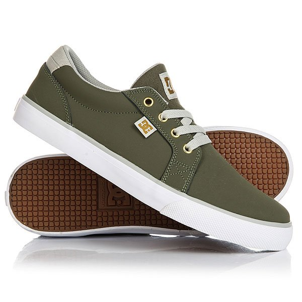 Кеды кроссовки низкие детские DC Council B Green/Grey/White dc shoes кеды dc council black cream 8 5